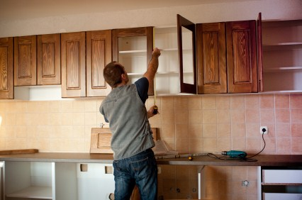 Cabinet refinishing by Complete Painting Services