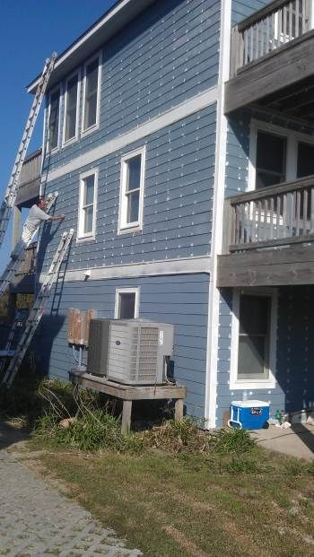 Exterior Painting and Trim Painting of a Rental House in Nags Head, NC