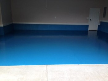 Garage Floor Painting by Complete Painting Services in Suffolk, VA